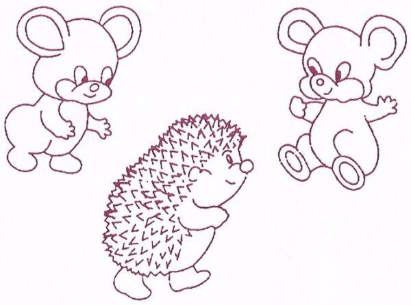 Mice & Hedgehog/Mus & Pindsvin