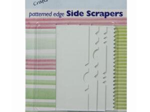 Sæt med 4 plast skrabere til mønster gør i glasur eller creme