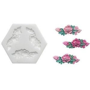 Fondant Silikoneform udstiksform rose - Silikomart