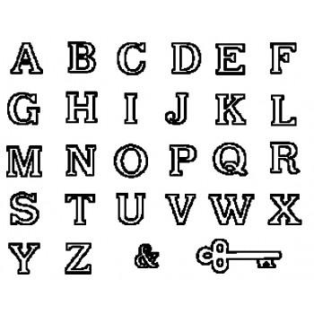 Large Alphabet & Key/Store bogstaver & nøgle