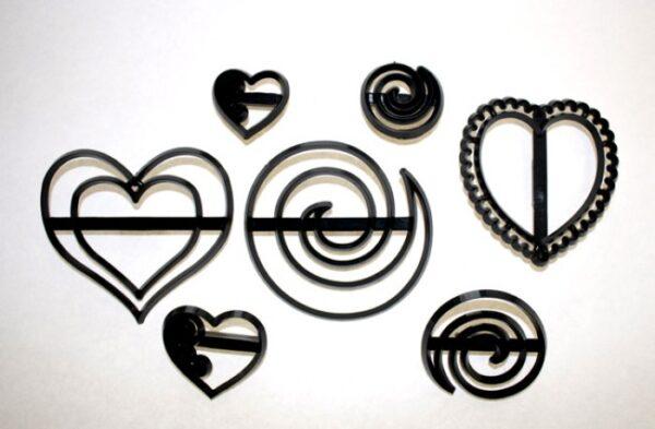 Swirls & Hearts/Hvirvler & Hjerte sæt