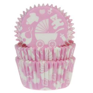 Søde lyserøde muffins forme fra House of Marie.