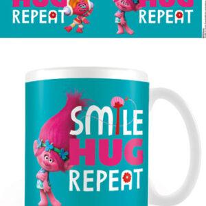 Trolls Krus Smile, Hug, Repeat - Smil, kram og gentag, fordi gode gerninger ikke kan gøres for tit