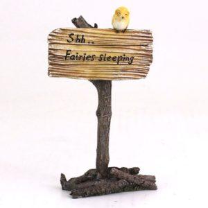 """""""Shh.. Fairies Sleeping"""" Fairy Garden Sign"""