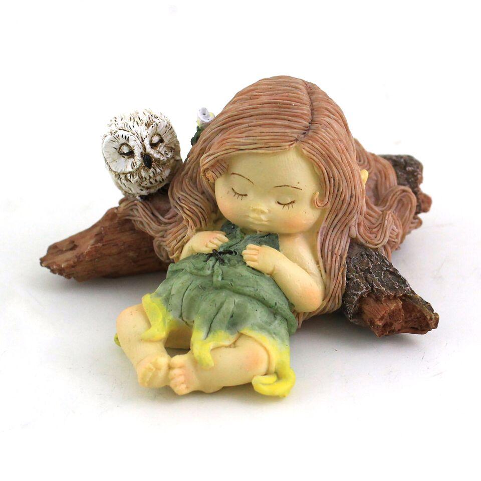 Sleeping Fairy With Owl