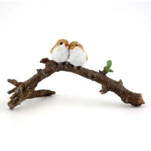 Lover Birds on Branch