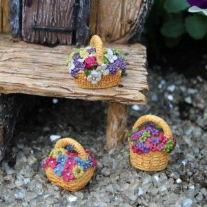 Flower Basket - sæt med 3 kurve