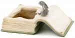 Kaniner, der læser på bøger