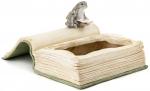 Kaniner der læser på bøger